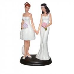 "Porte-bougies ""Mariage"" : Couple Homosexuel Femme"