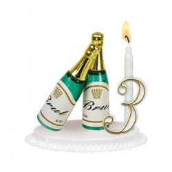 """Porte-bougies """"Adultes"""" : Bouteille de Champagne"""