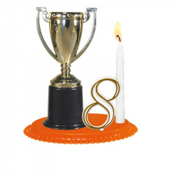 """Porte-bougies """"Sport et Loisirs"""" : Coupe"""