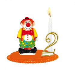 """Porte-bougies """"ENFANTS"""" : Clown"""