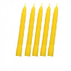 Bougies Arlequin Jaunes idéales pour la décoration d'anniversaire