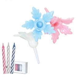 Bobèches Fleurs Assorties idéales pour la décoration d'anniversaire