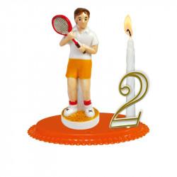 """Porte-bougies """"Sports et Loisirs"""" : Tennis Porcelaine"""